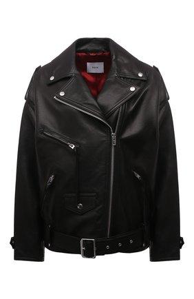 Женская кожаная куртка BATS черного цвета, арт. FW20/0_001 | Фото 1