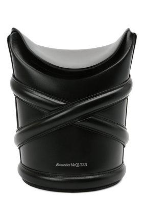 Женская сумка curve small ALEXANDER MCQUEEN черного цвета, арт. 656467/1YB45   Фото 1