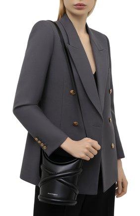 Женская сумка curve small ALEXANDER MCQUEEN черного цвета, арт. 656467/1YB45   Фото 2