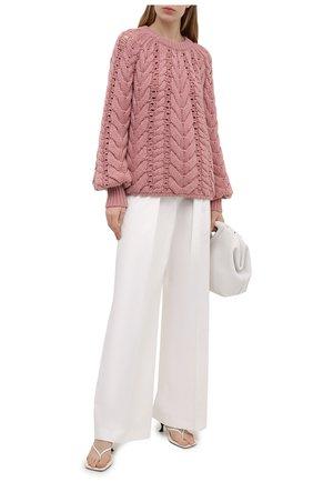 Женский кашемировый свитер BRUNELLO CUCINELLI розового цвета, арт. M52323500 | Фото 2