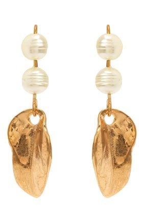 Женские серьги MARNI золотого цвета, арт. 0RMV0271A0/M2000 | Фото 1