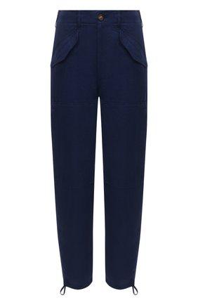 Женские льняные брюки POLO RALPH LAUREN синего цвета, арт. 211833043 | Фото 1