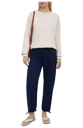 Женские льняные брюки POLO RALPH LAUREN синего цвета, арт. 211833043 | Фото 2