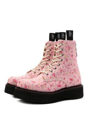 Женские текстильные ботинки R13 светло-розового цвета, арт. R13S0026-12   Фото 1