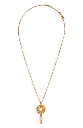 Женская кулон на цепочке femininities CHLOÉ золотого цвета, арт. CHC21UF079CB7 | Фото 1 (Материал: Металл)