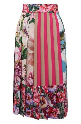 Женская шелковая юбка DOLCE & GABBANA разноцветного цвета, арт. F4B2IT/GDY67 | Фото 1