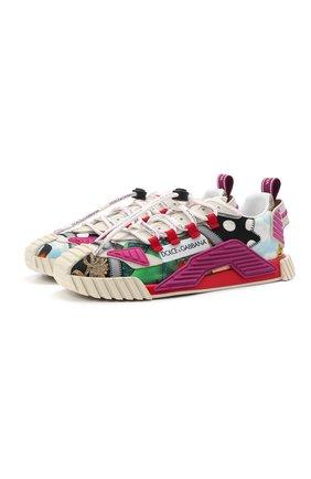 Женские комбинированные кроссовки ns1 DOLCE & GABBANA разноцветного цвета, арт. CK1756/A0672 | Фото 1