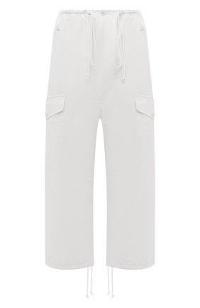 Женские хлопковые брюки Y`S белого цвета, арт. YD-P13-009   Фото 1