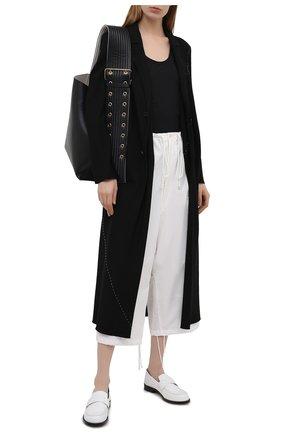 Женские хлопковые брюки Y`S белого цвета, арт. YD-P13-009   Фото 2