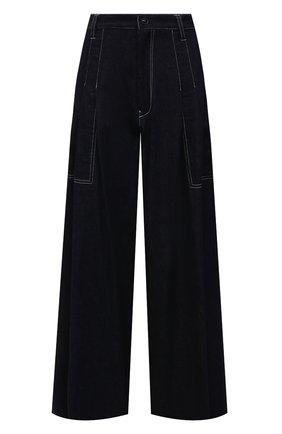 Женские хлопковые брюки Y`S темно-синего цвета, арт. YD-P01-006 | Фото 1