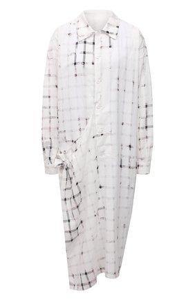 Женское хлопковое платье Y`S белого цвета, арт. YD-D11-013   Фото 1