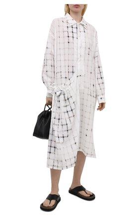 Женское хлопковое платье Y`S белого цвета, арт. YD-D11-013   Фото 2