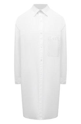 Женская хлопковая рубашка YOHJI YAMAMOTO белого цвета, арт. ND-B56-001   Фото 1
