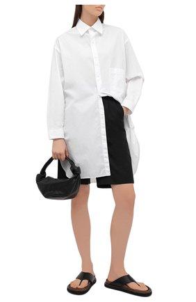 Женская хлопковая рубашка YOHJI YAMAMOTO белого цвета, арт. ND-B56-001   Фото 2