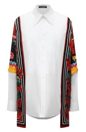 Рубашка из хлопка и шелка | Фото №1