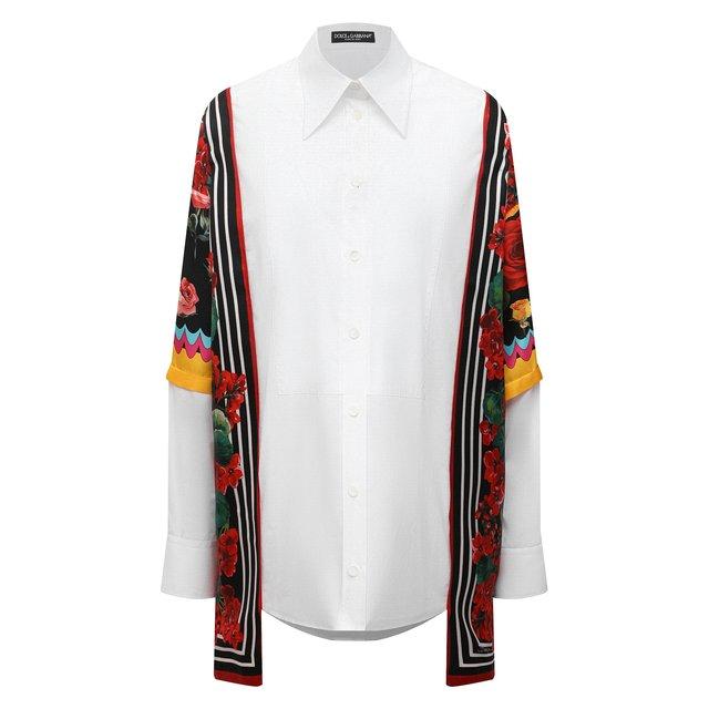 Рубашка из хлопка и шелка Dolce & Gabbana
