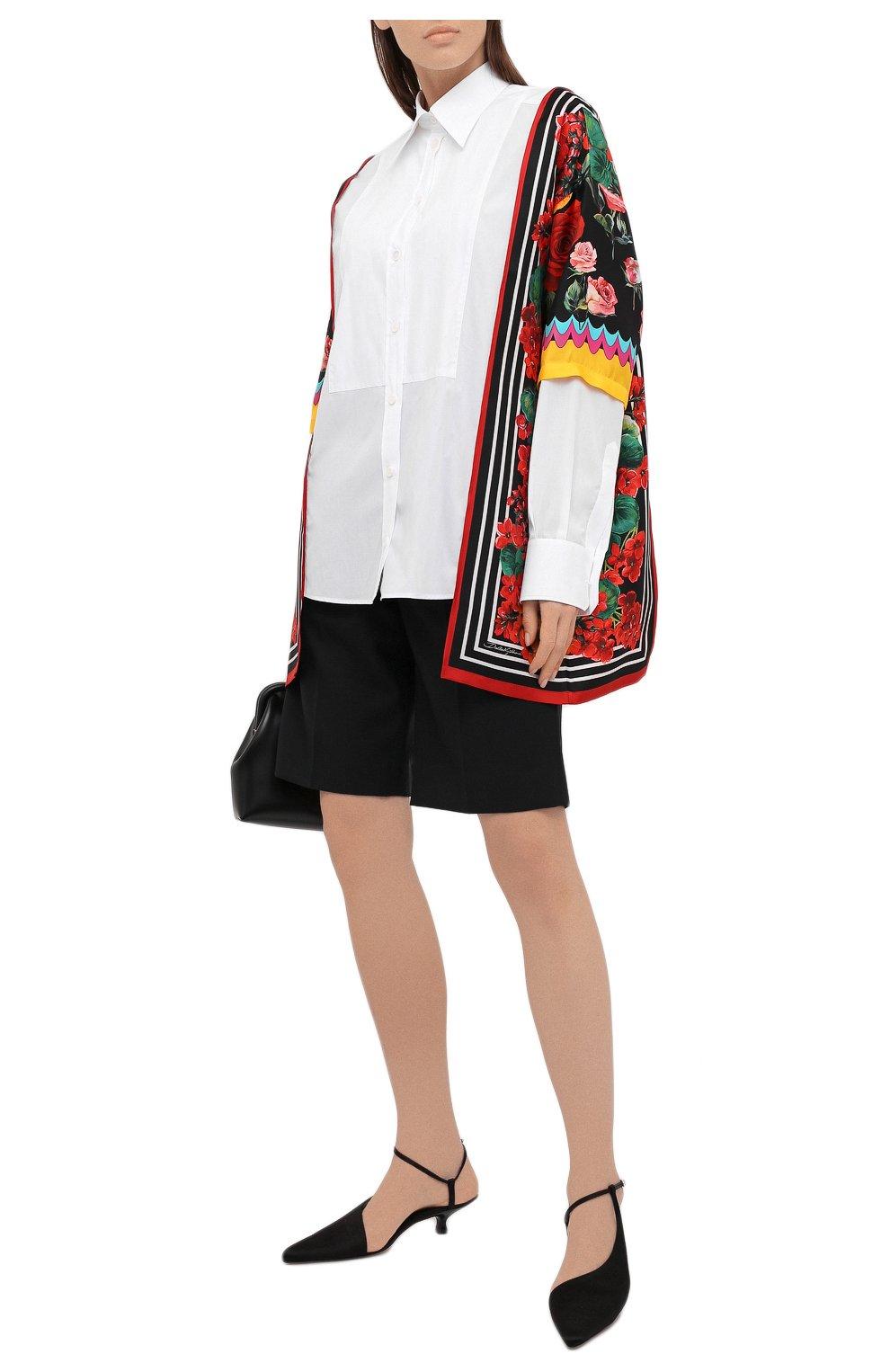 Женская рубашка из хлопка и шелка DOLCE & GABBANA разноцветного цвета, арт. F5020T/GDZ36 | Фото 2