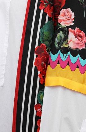 Женская рубашка из хлопка и шелка DOLCE & GABBANA разноцветного цвета, арт. F5020T/GDZ36 | Фото 5