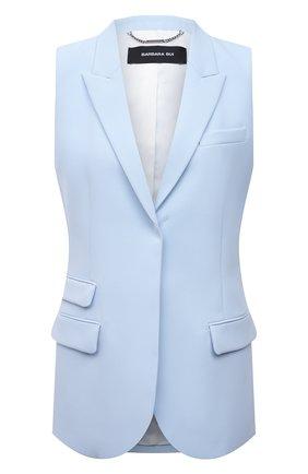 Женский жакет без рукавов BARBARA BUI голубого цвета, арт. X1223XAA | Фото 1