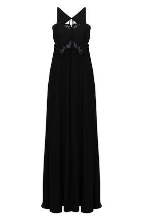 Женское шелковое платье VICTORIA BECKHAM черного цвета, арт. 1221WDR002563A | Фото 1