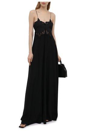 Женское шелковое платье VICTORIA BECKHAM черного цвета, арт. 1221WDR002563A | Фото 2