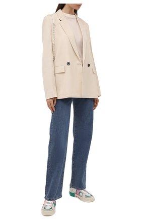 Женские кожаные кеды custom 2.zero DOLCE & GABBANA разноцветного цвета, арт. CK1863/A0544 | Фото 2