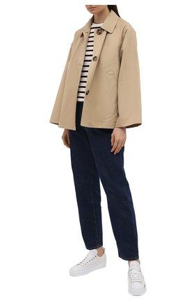 Женские кожаные кеды portofino DOLCE & GABBANA белого цвета, арт. CK1886/A0515 | Фото 2 (Подошва: Платформа; Материал внутренний: Натуральная кожа)