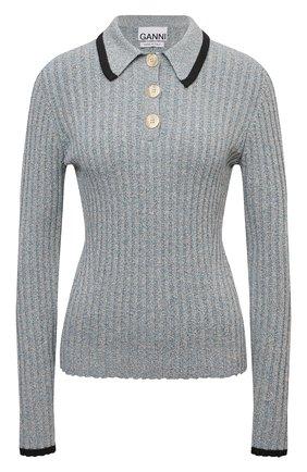 Женский пуловер GANNI голубого цвета, арт. K1534   Фото 1
