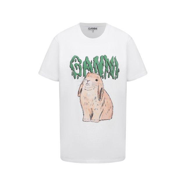 Хлопковая футболка Ganni