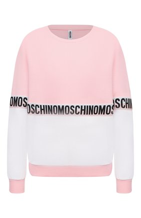 Женская хлопковый свитшот MOSCHINO UNDERWEAR WOMAN розового цвета, арт. A1716/9020 | Фото 1