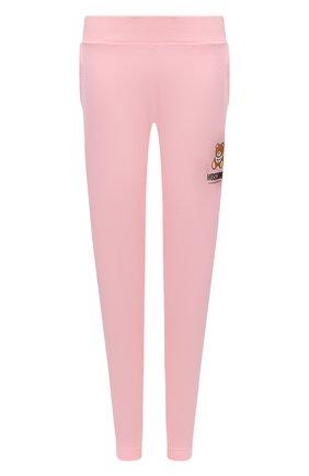 Женские хлопковые брюки MOSCHINO UNDERWEAR WOMAN розового цвета, арт. A4329/9020 | Фото 1