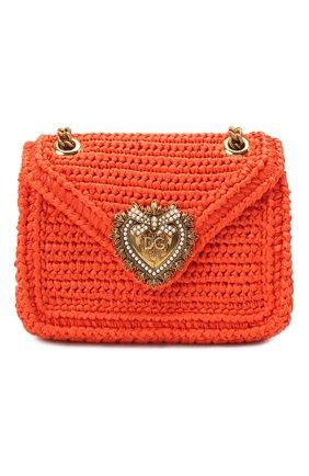 Женская сумка devotion small DOLCE & GABBANA оранжевого цвета, арт. BB6641/A0434   Фото 1