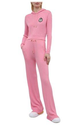 Женский пуловер с капюшоном BALMAIN розового цвета, арт. VF2JP005/KA02 | Фото 2