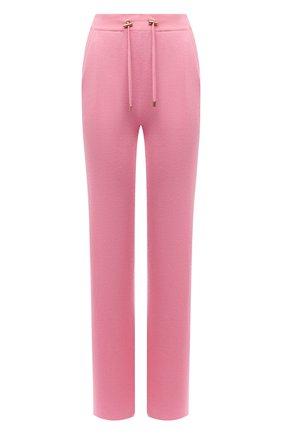 Женские брюки из кашемира и шелка BALMAIN розового цвета, арт. VF20B005/K255 | Фото 1