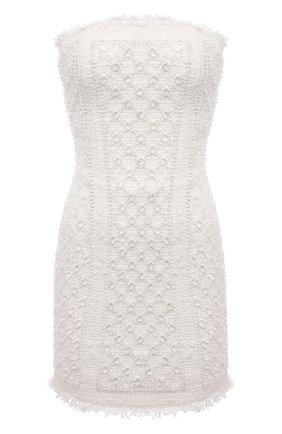 Женское платье BALMAIN белого цвета, арт. VF0R1000/P077 | Фото 1