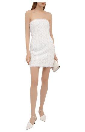 Женское платье BALMAIN белого цвета, арт. VF0R1000/P077 | Фото 2