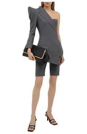 Женские шерстяные шорты BALMAIN серого цвета, арт. VF0PB020/W127 | Фото 2
