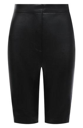 Женские кожаные шорты BALMAIN черного цвета, арт. VF0QB000/L110 | Фото 1
