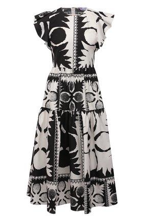 Женское платье REDVALENTINO черно-белого цвета, арт. VR0VAY90/5SA   Фото 1