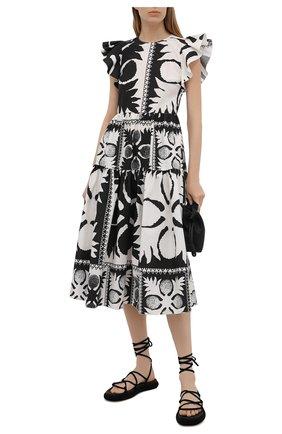 Женское платье REDVALENTINO черно-белого цвета, арт. VR0VAY90/5SA   Фото 2