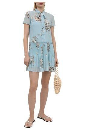 Женское платье REDVALENTINO голубого цвета, арт. VR0VAAB0/5SC   Фото 2