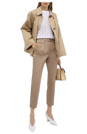 Женские хлопковые брюки REDVALENTINO бежевого цвета, арт. VR0RBE25/4YN | Фото 2