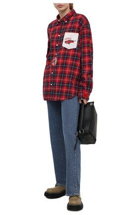 Женская хлопковая рубашка NATASHA ZINKO разноцветного цвета, арт. SS21DU0211-33   Фото 2