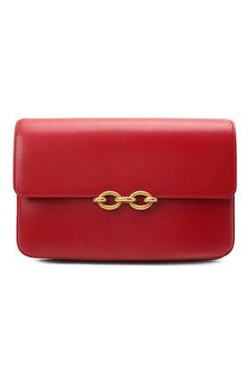 Женская сумка maillon SAINT LAURENT красного цвета, арт. 649795/2R20W   Фото 1