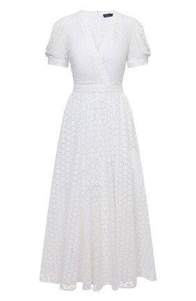 Женское хлопковое платье POLO RALPH LAUREN белого цвета, арт. 211838039 | Фото 1