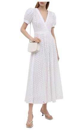 Женское хлопковое платье POLO RALPH LAUREN белого цвета, арт. 211838039 | Фото 2