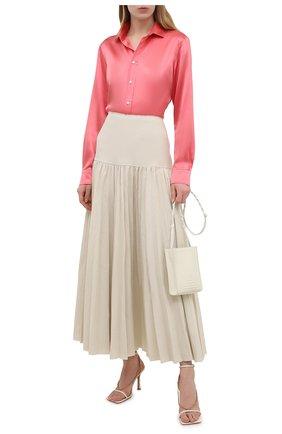 Женская шелковая рубашка POLO RALPH LAUREN розового цвета, арт. 211798122 | Фото 2