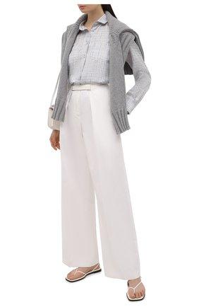 Женская шелковая рубашка GIORGIO ARMANI светло-серого цвета, арт. 1WHCC01L/T02II | Фото 2