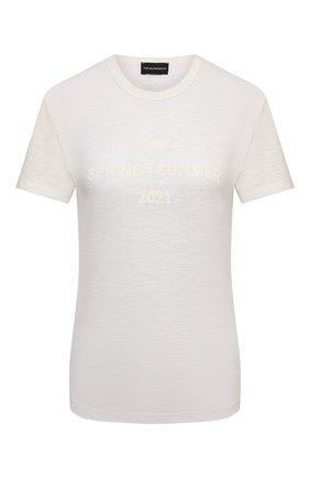 Женская футболка EMPORIO ARMANI белого цвета, арт. 3K2T8F/2JSAZ   Фото 1