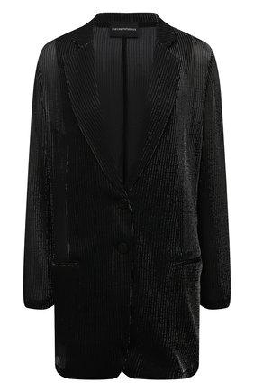 Женский жакет из вискозы EMPORIO ARMANI черного цвета, арт. ANG2BT/A2154   Фото 1